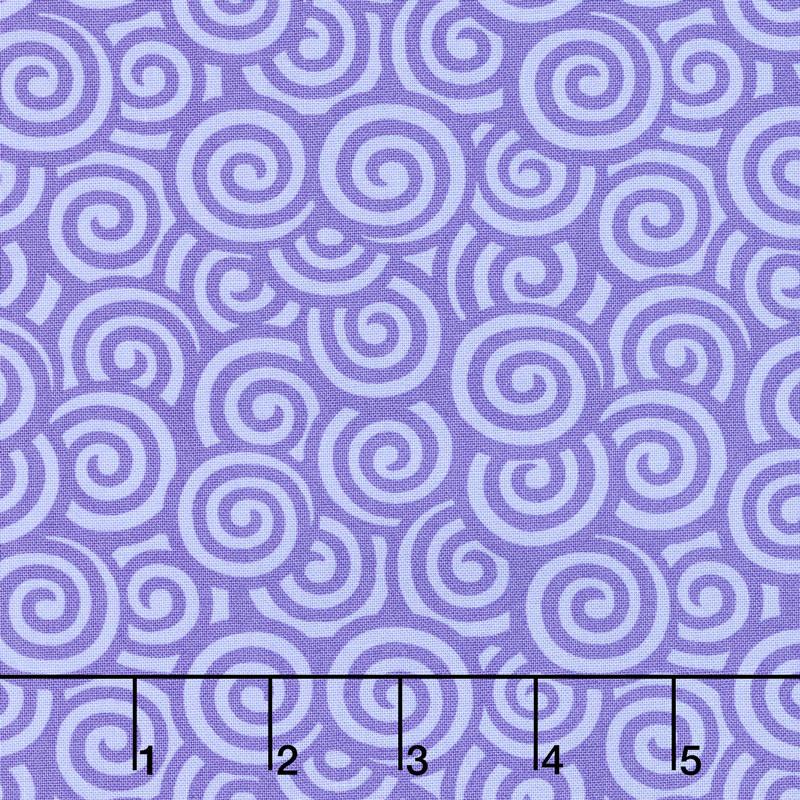 Flower Sacks - Swirls Purple Yardage