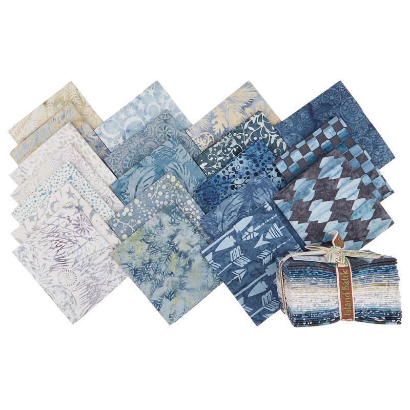 Faded Blue Jeans Batiks Fat Quarter Bundle