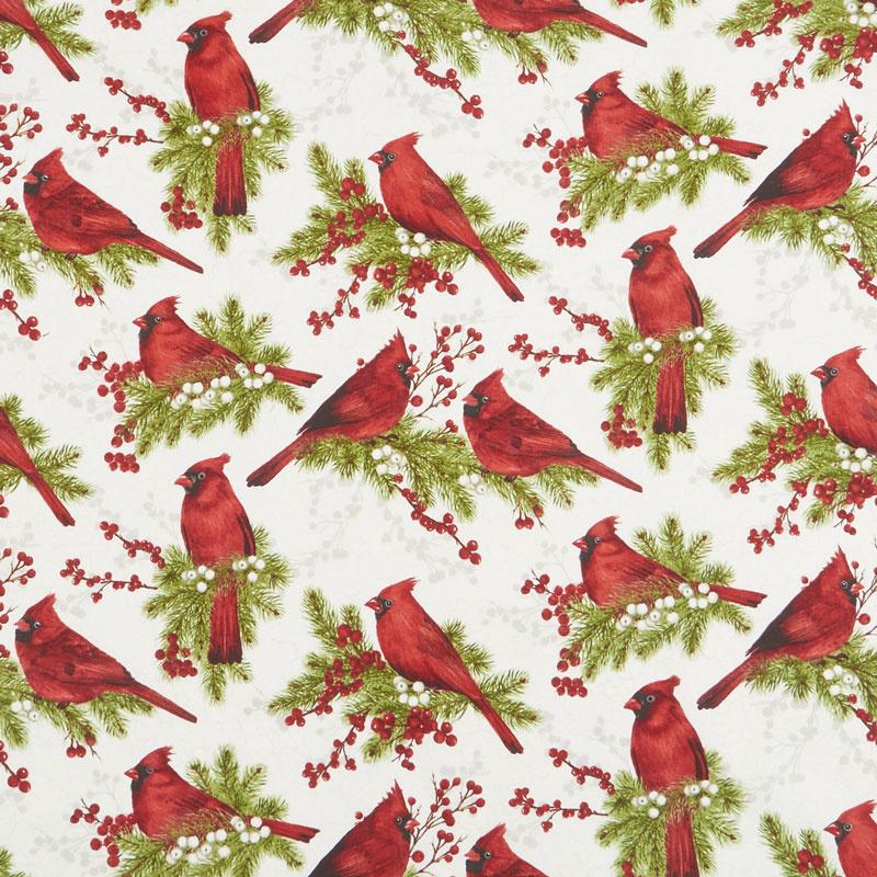 Cardinal Woods - Cardinals Cream Multi Yardage