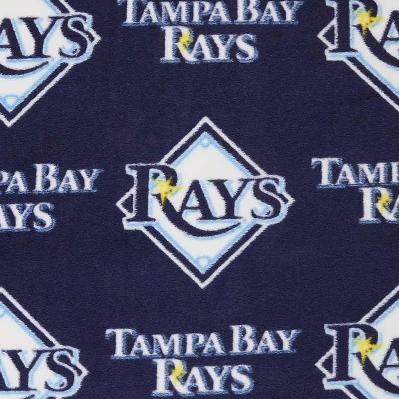 MLB Fleece - Tampa Bay Rays Blue Yardage