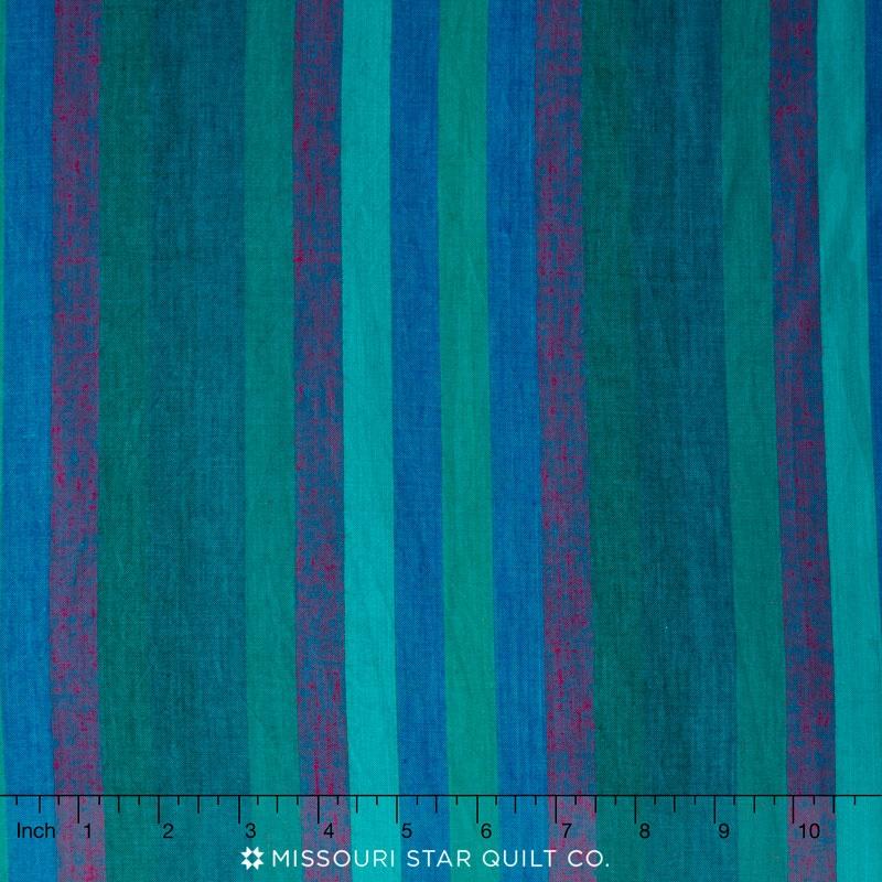 Kaffe Wovens - Broad Stripe Blue Yardage