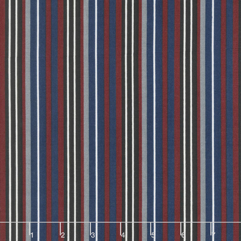 Hey Mister - Striped Leash Navy Yardage