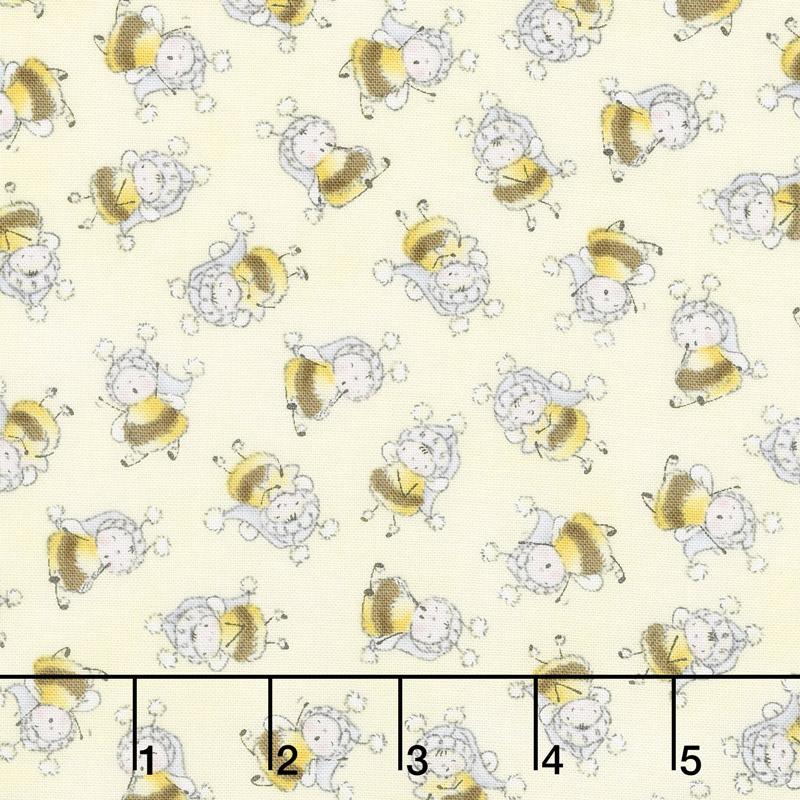 Little Star - Bunny Bees Yellow Yardage
