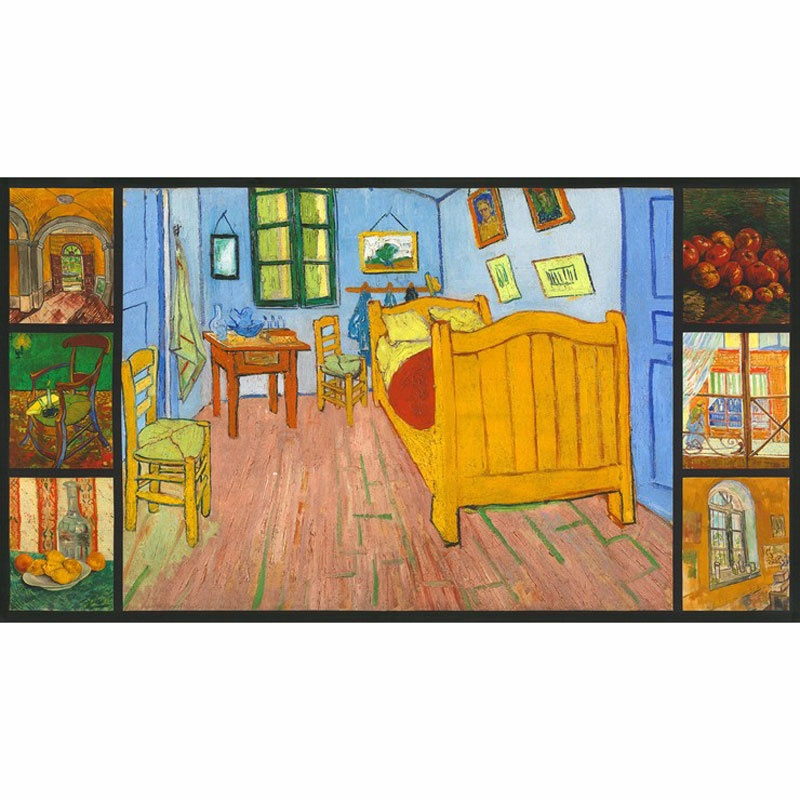 Vincent Van Gogh 3 - Bedroom in Arles Multi Digitally Printed Panel