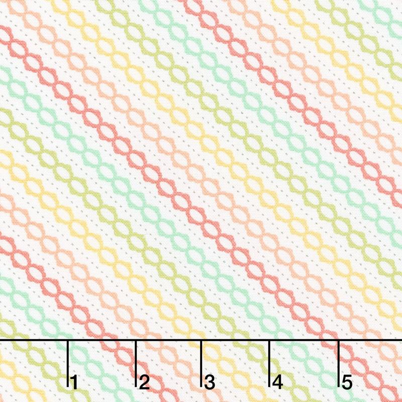 Strawberry Jam - Summer Stripe Multi Yardage