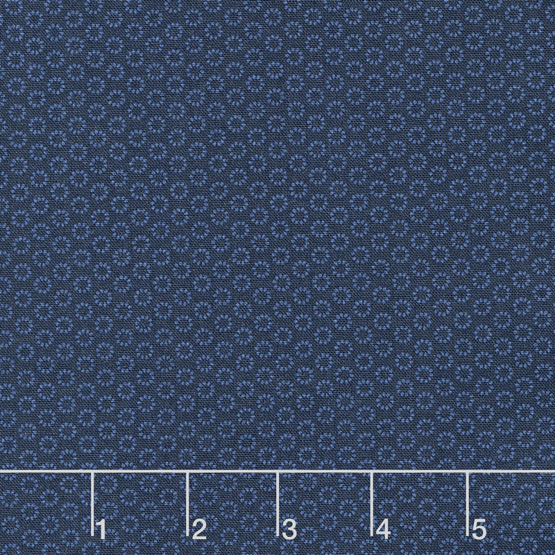 Wilmington Essentials - In the Navy Tiny Rings Navy on Navy Yardage