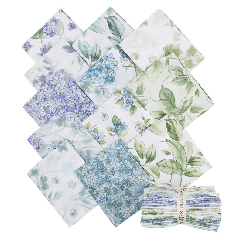 Watercolor Hydrangeas Fat Quarter Bundle