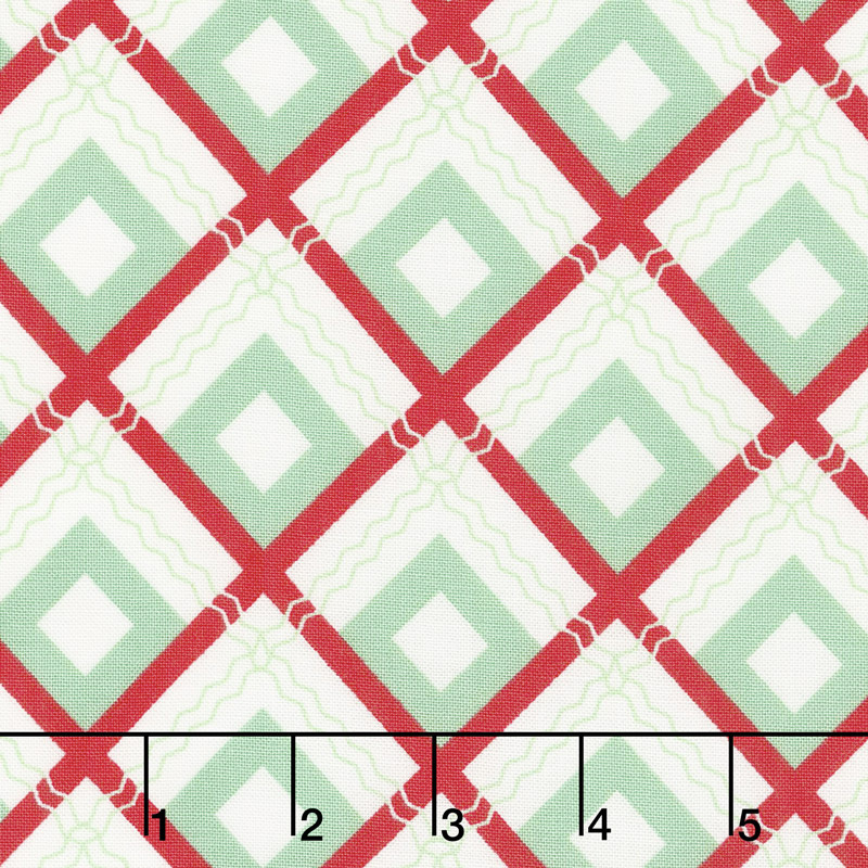 Sweet Christmas - Plaid Scarf Spearmint Yardage