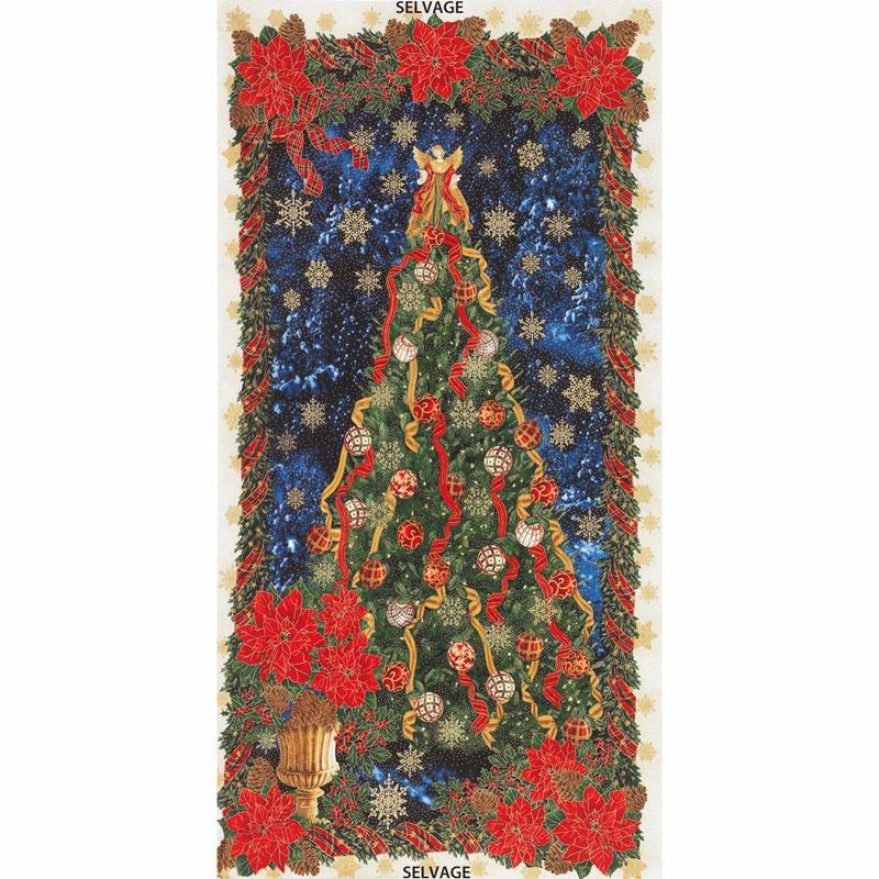Holiday - Glamorous Holiday Tree Multi Metallic Panel
