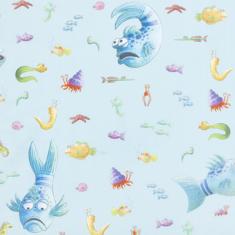 The Pout Pout Fish - Fish Aqua Yardage