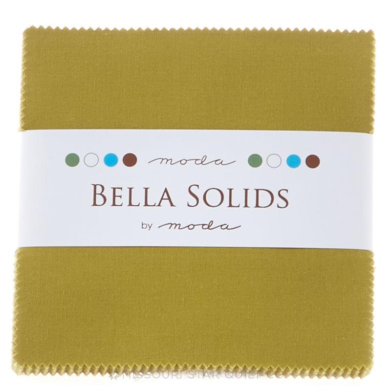 Bella Solids Fig Tree Olive Charm Pack