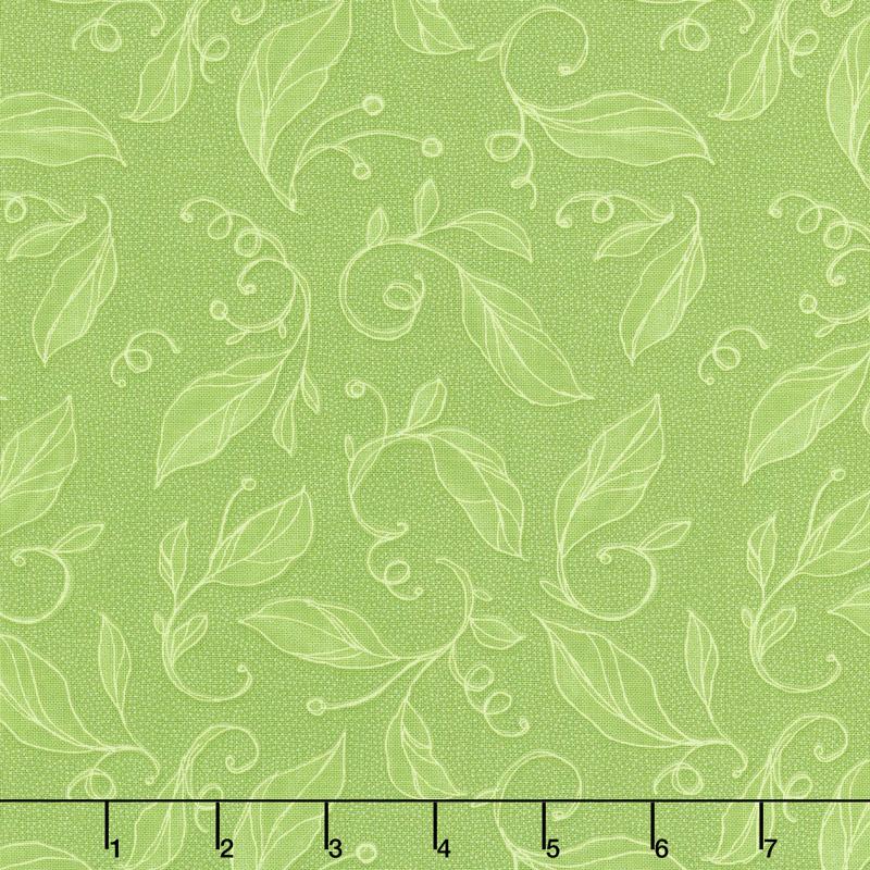 Sweet Pea & Lily - Swirly Leaves Sapling Yardage