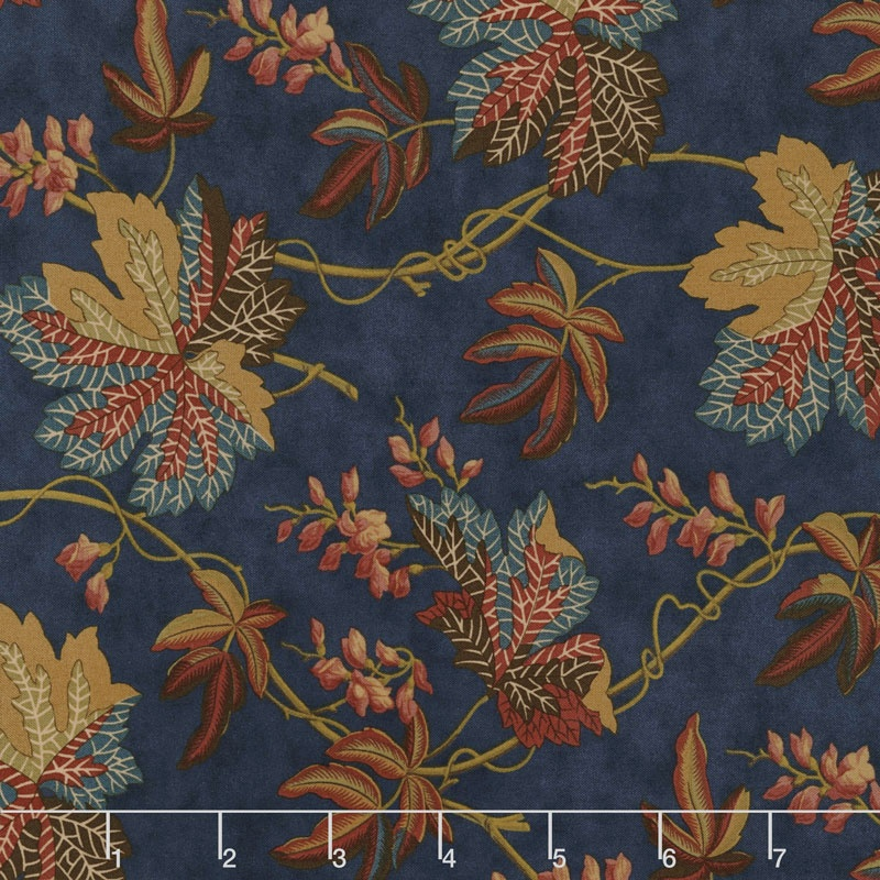 Sycamore - Fall Leaves Navy Yardage