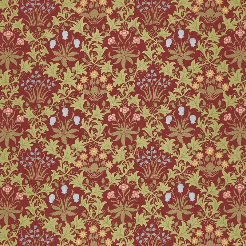 May Morris Studio - Celadine 1896 Crimson Yardage