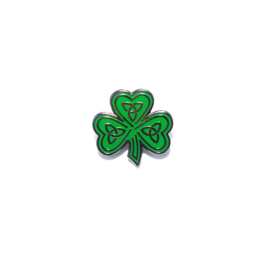 Celtic Shamrock Pin by Pin Peddlers