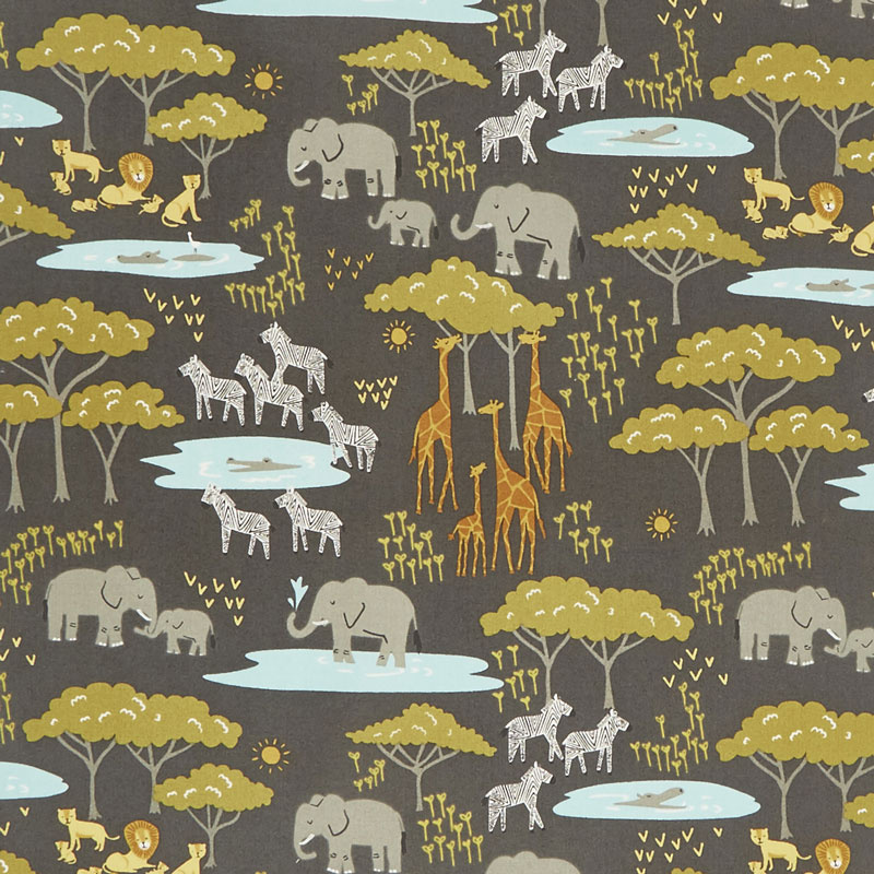 Safari Life - In the Native Black Yardage