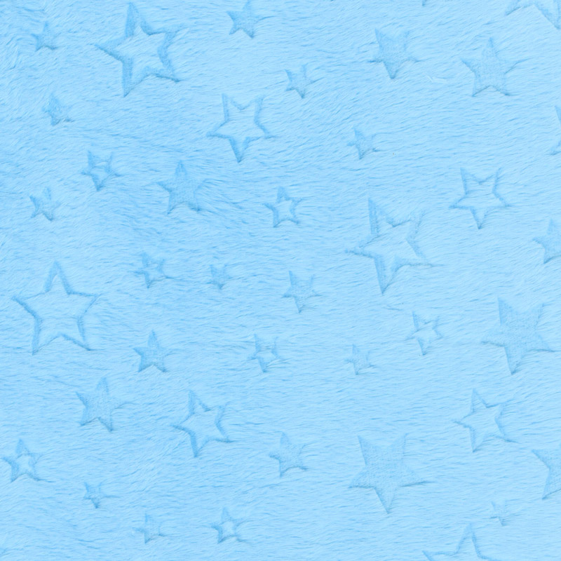 Cuddle Embossed Star - Turquoise 60