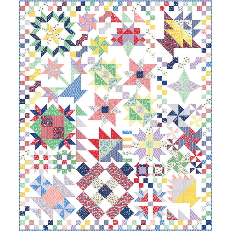 Merry Go Round Quilt Kit 50 x 60 with Moda Mixed Bag 2017 fabric by Studio M KIT33200