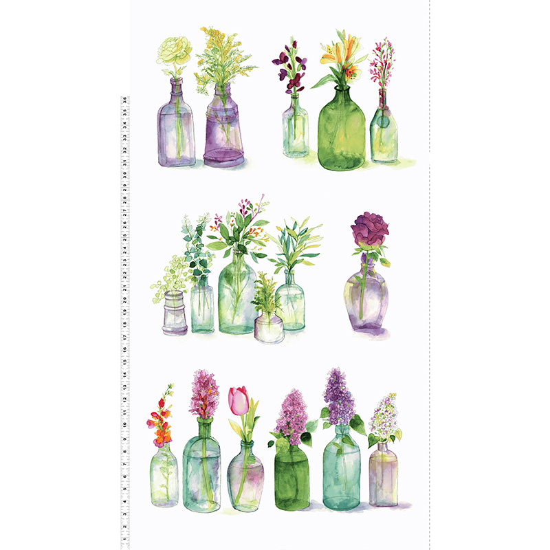 Radiance - Flower Bottles White Panel