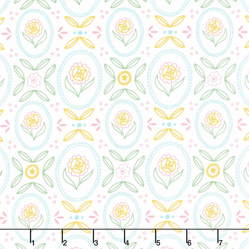 Flutter and Shine - Cottage White Yardage