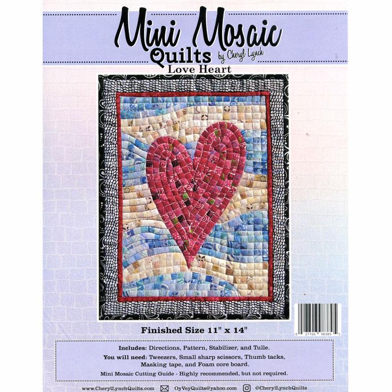 Mini Mosaic Quilts Love Heart Pattern