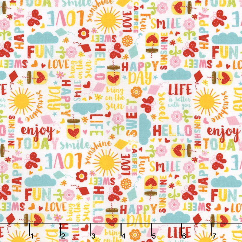 Happy Day - Happy Words Multi Yardage