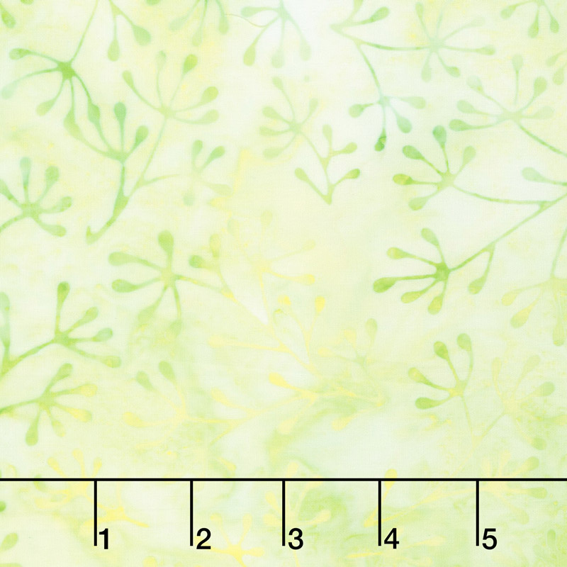 Artisan Batiks - Color Source 8 - Spindly Leaves Celery Yardage