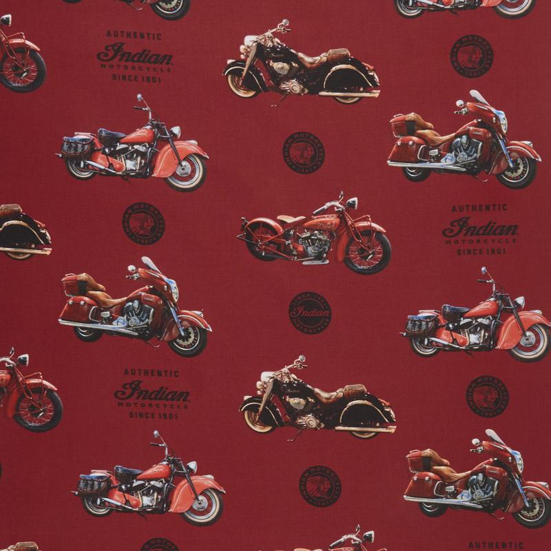Indian Motorcycle - Main Red Yardage