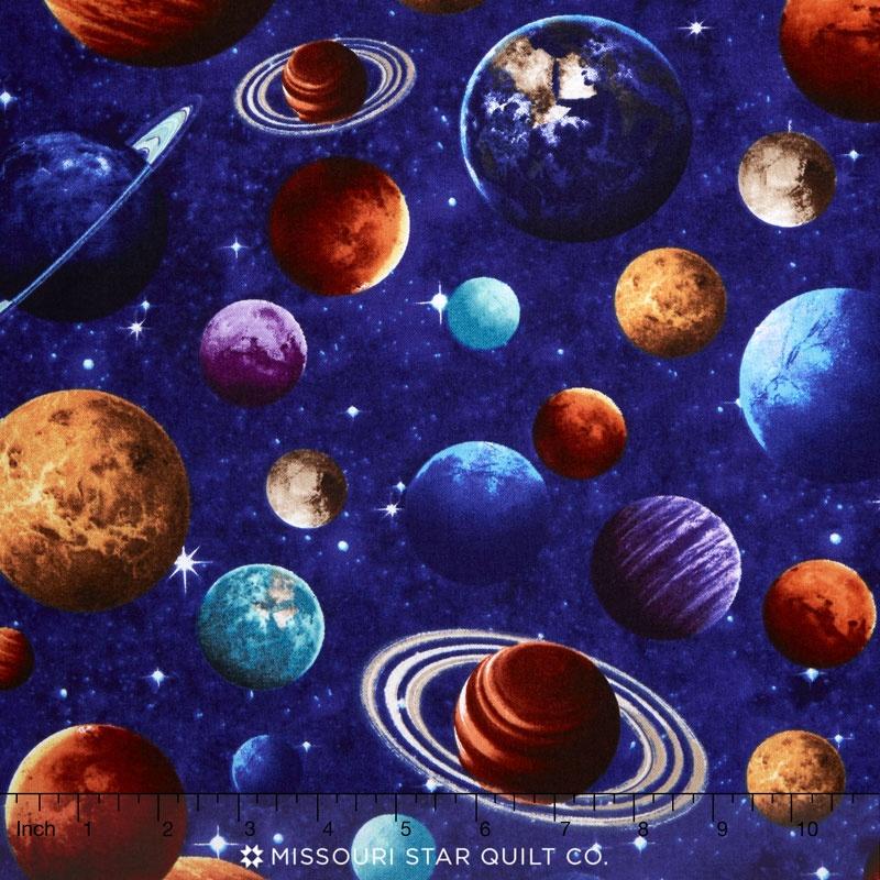 Across The Universe Planets Royal Yardage Deborah