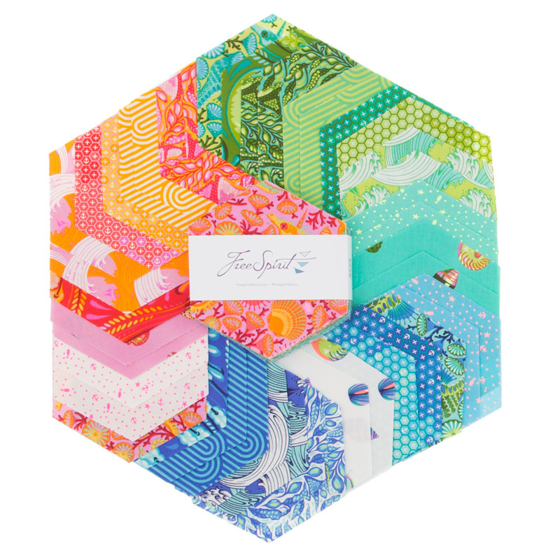 07fe280d833313 Zuma Hexagons - Tula Pink - FreeSpirit Fabrics