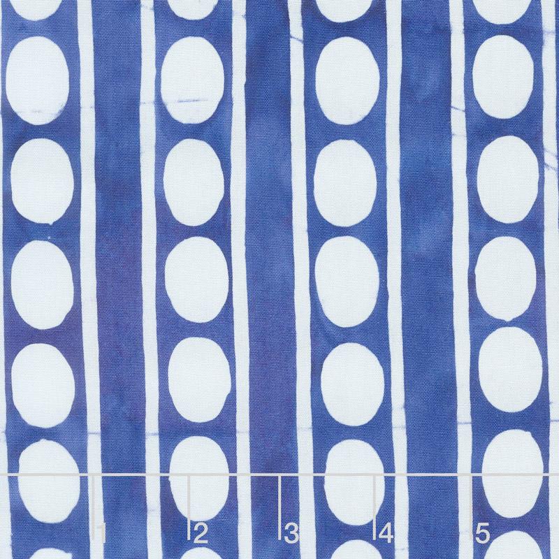 Kaffe Artisan Batik - Artisan Peapods Blue Yardage