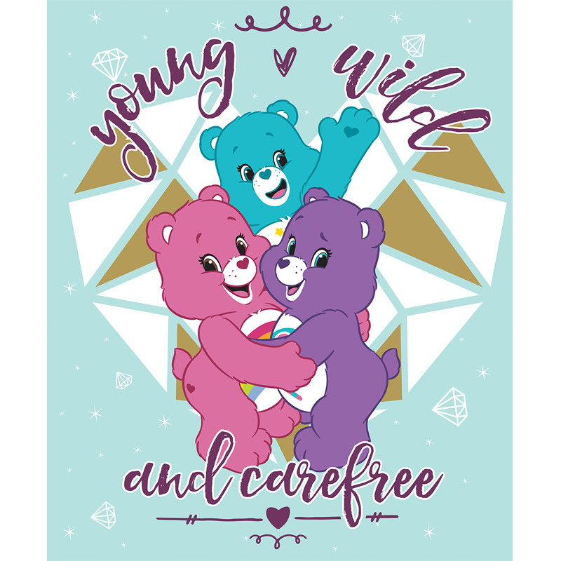 Care Bears - Sparkle & Shine Carefree in Blue with Gold Metallic Panel