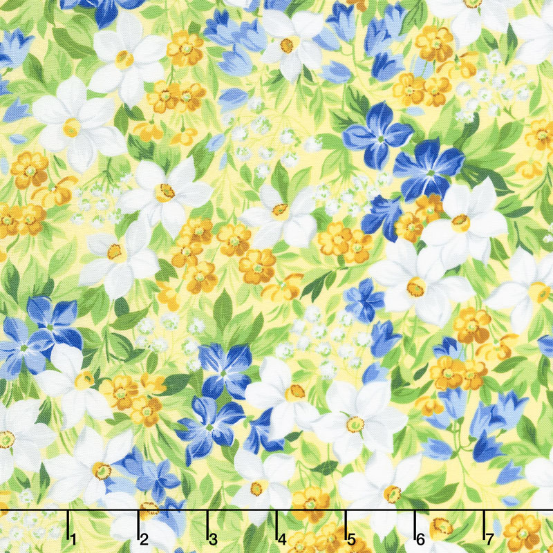Summer Breeze V - Spring Garden Yellow Yardage