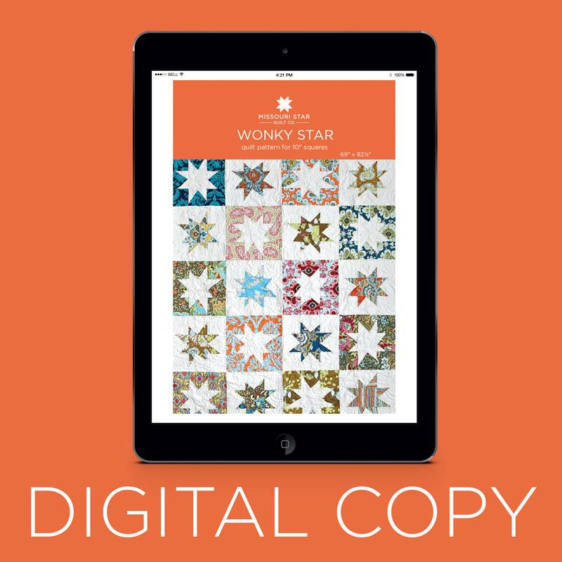 Digital Download Wonky Star Quilt Pattern By Missouri Star