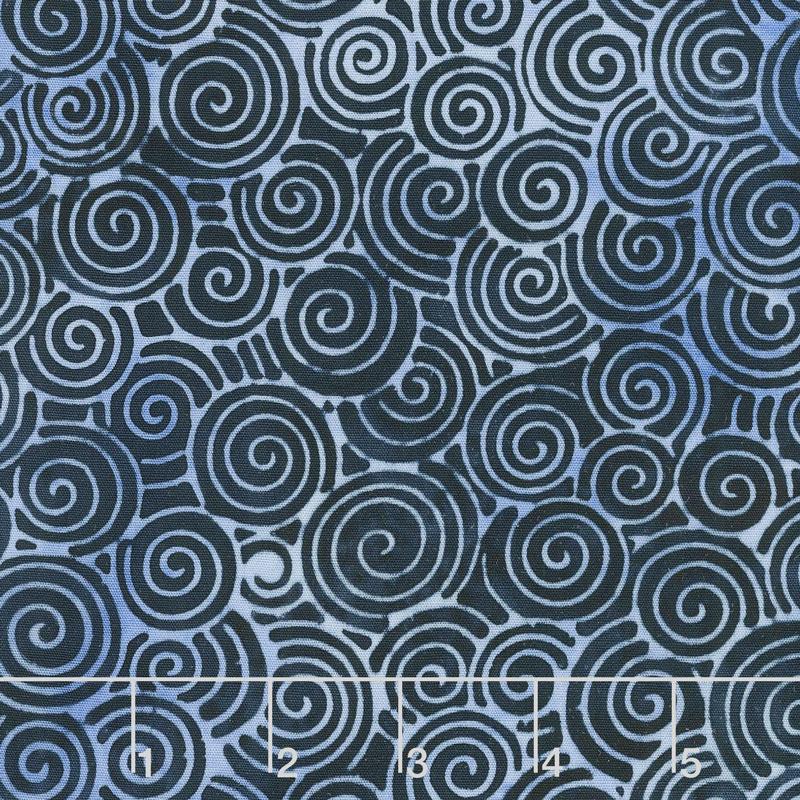 Blueberry Patch Batiks - Swirls Navy Yardage