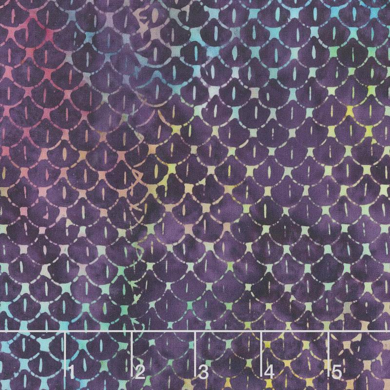 Magical Reef Batiks - Scales Purple Yardage