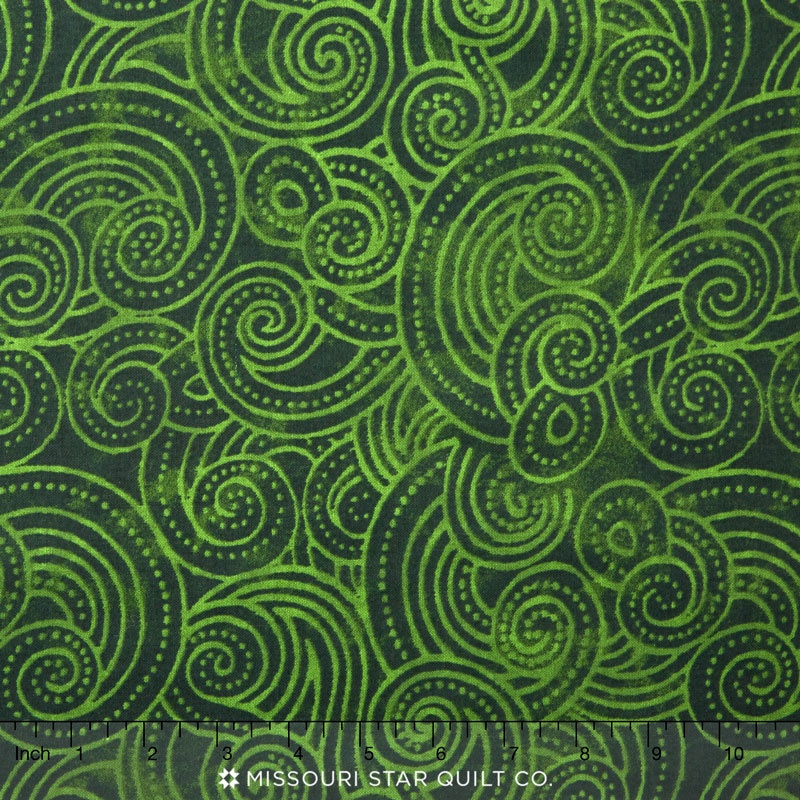 Wilmington Essentials - Dotty Waves Tonal Dark Green 108