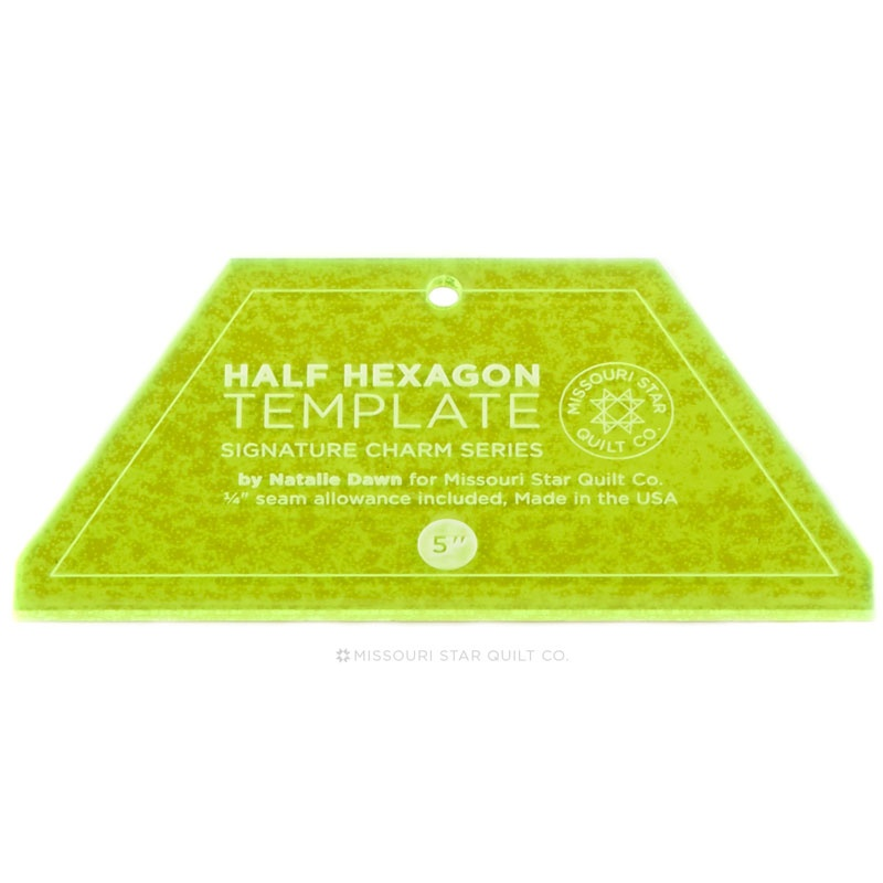 Missouri Star Small Half Hexagon Template For 5 Charm Packs 2 5