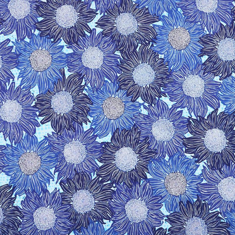 Murmur - Sunflower Blue Yardage