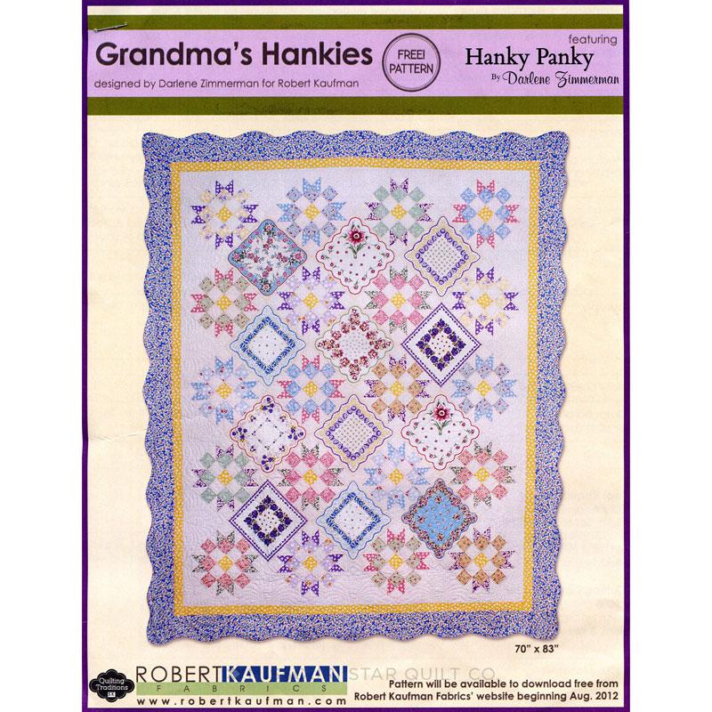Hanky Panky Grandmas Hanky Quilt Kit Darlene Zimmerman Robert
