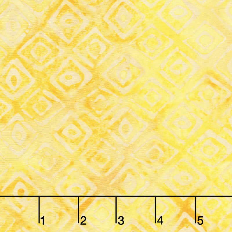 Queen Bee Batiks - Diamond Tiles Yellow Yardage
