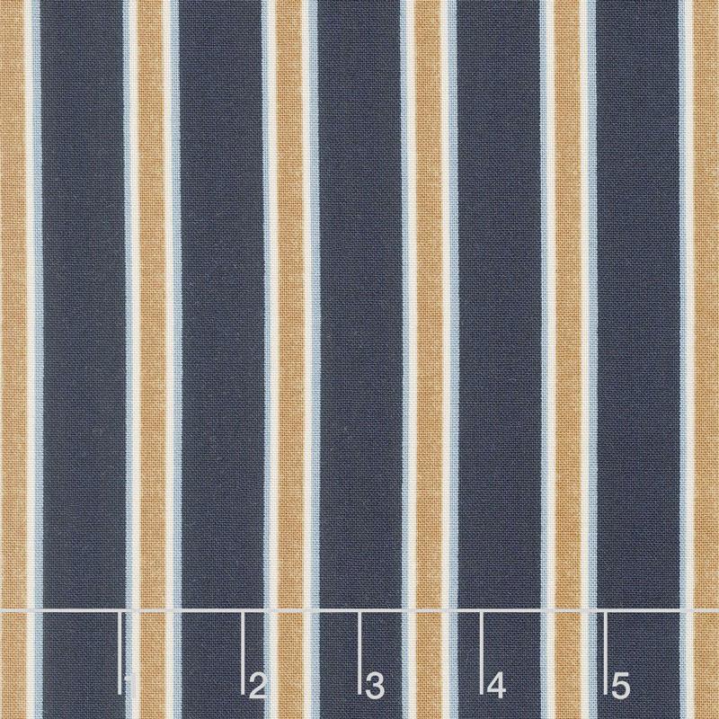 Kelmscott - Gilt Stripe Navy Yardage