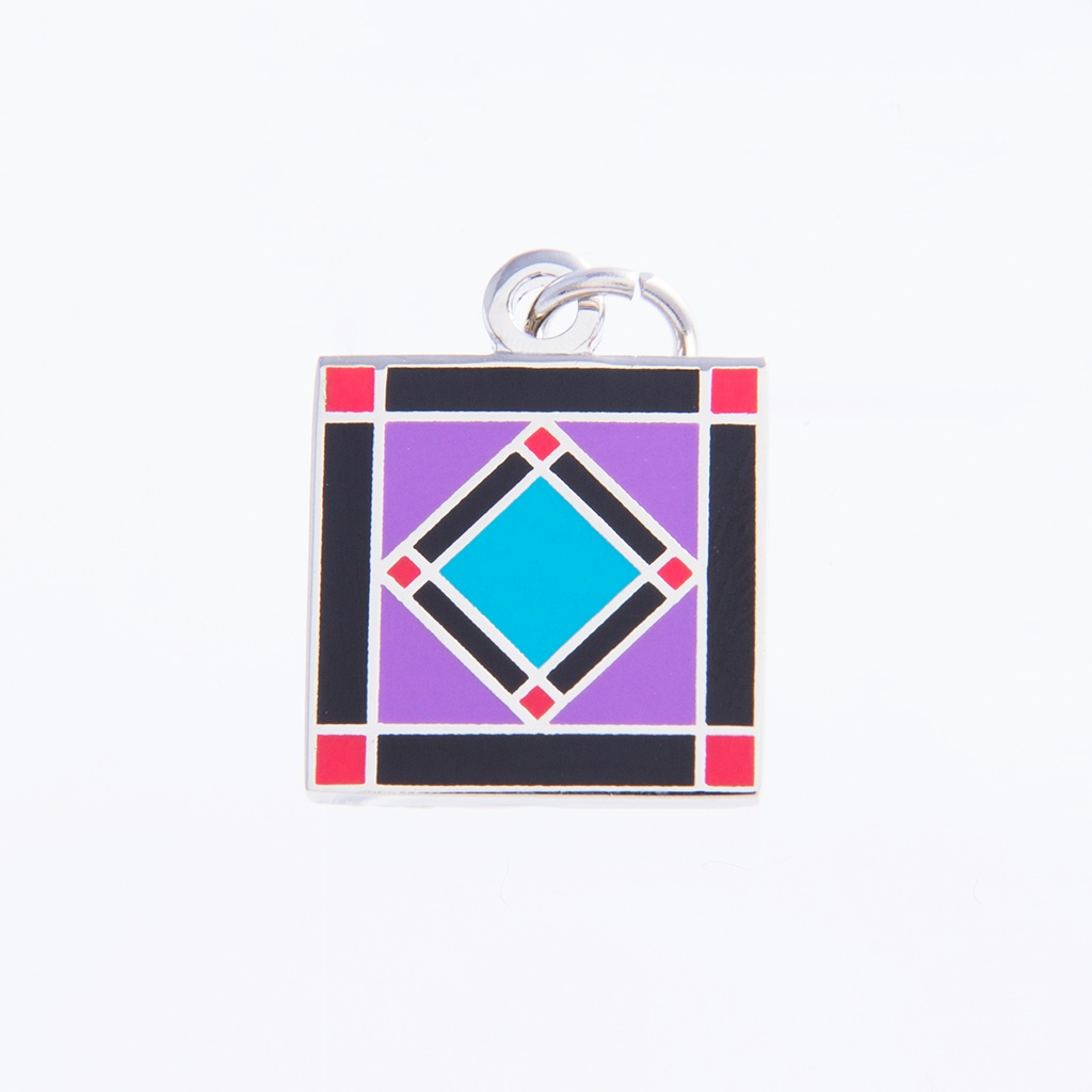 Square In A Square Charm by Pin Peddlers