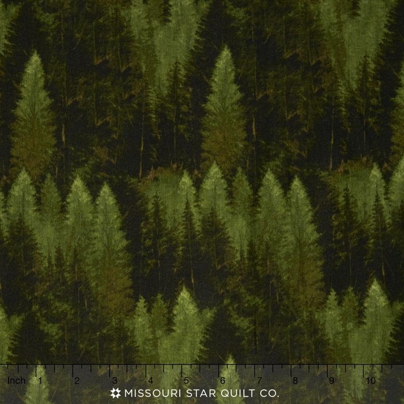 Majestic Outdoors - Majestic Forest Dark Green Yardage