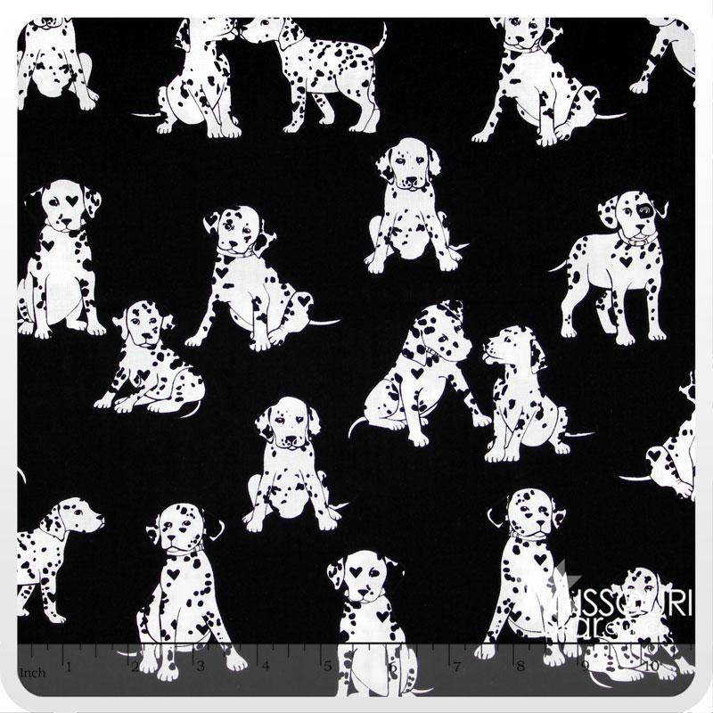 Puppy Love - Puppy Luv Black Yardage