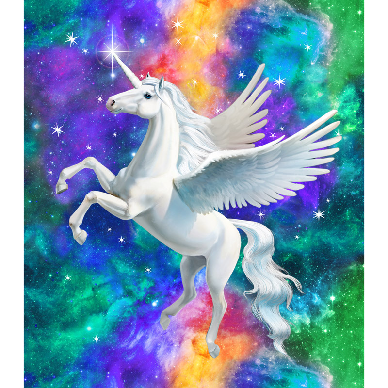 Artisan Spirit - Imagine Novelty Unicorn Blue Digitally Printed 3D Panel