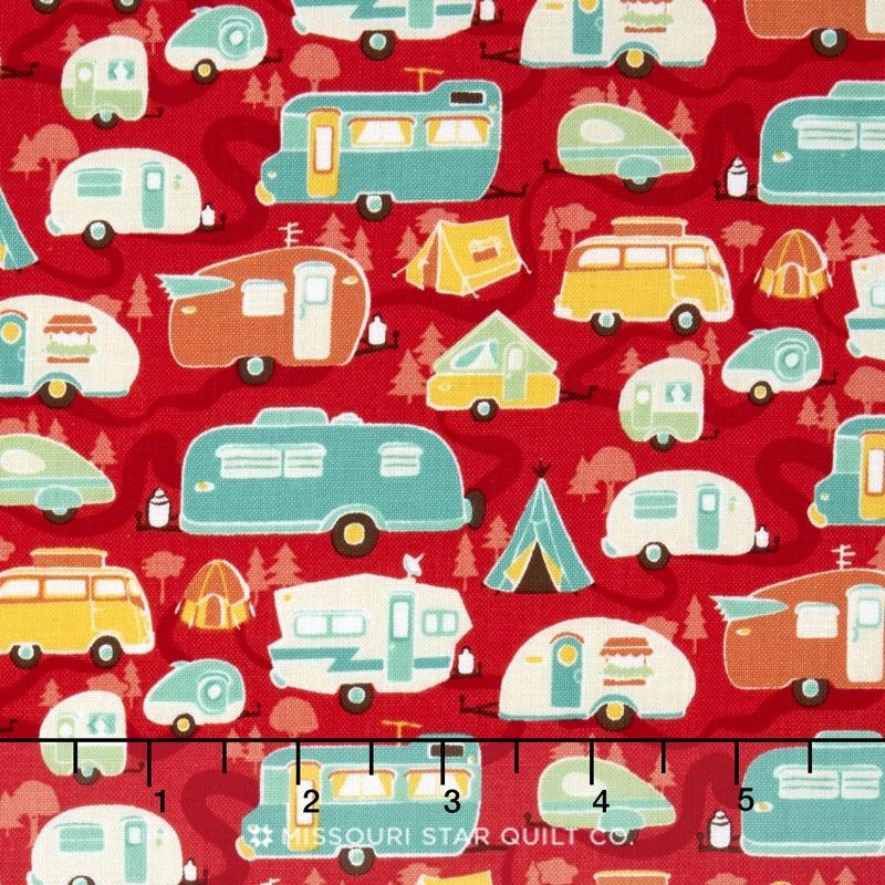 Road Trip - Trailer Red Yardage