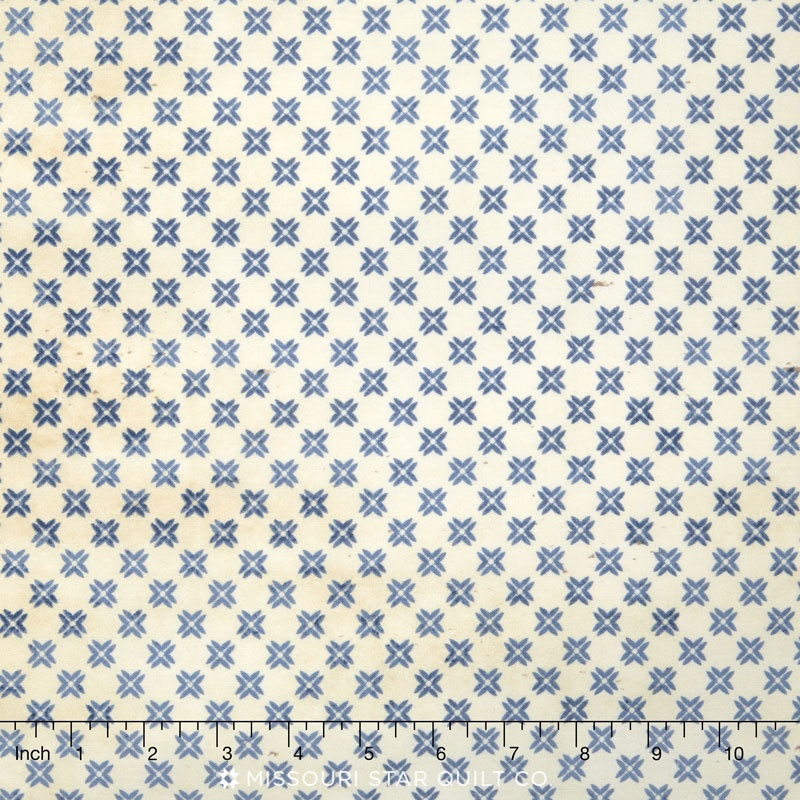 Eclectic Elements - Correspondence Tailored Blue Yardage