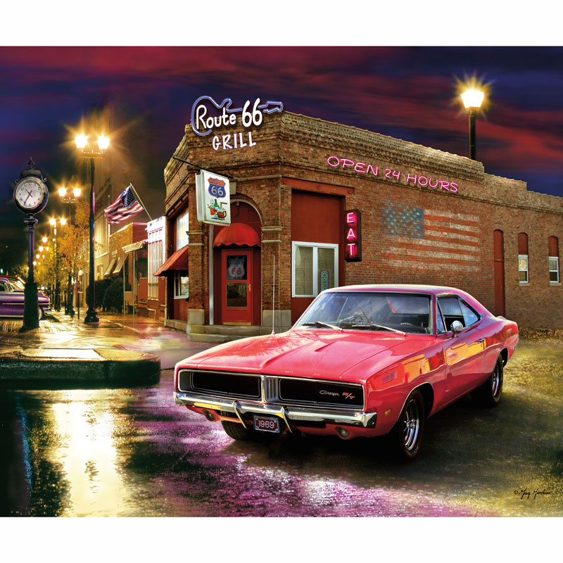 Dodge Muscle Cars - Dodge 1969 Charger Digitally Printed Panel ...