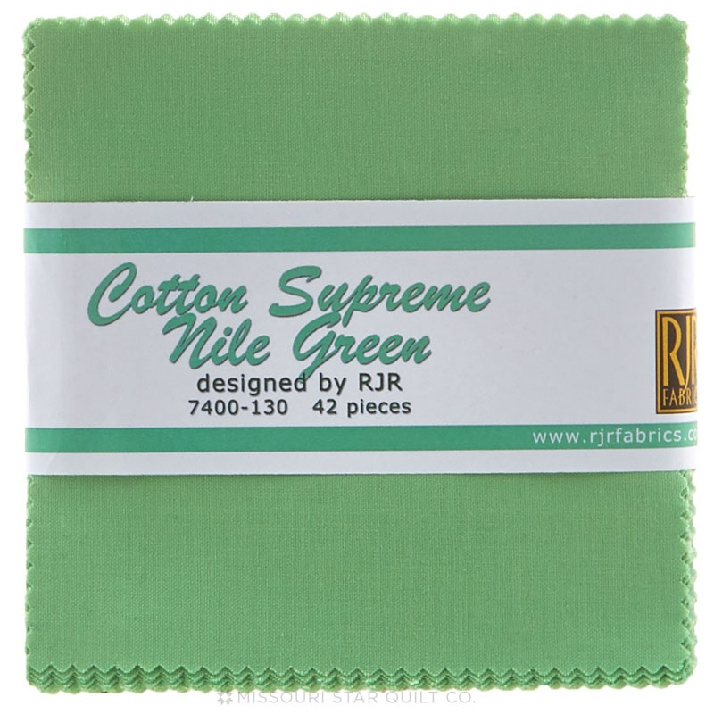 Cotton Supreme Solids Nile Green Charm Pack